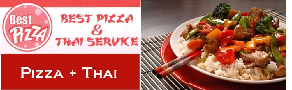 logo header best pizza thai